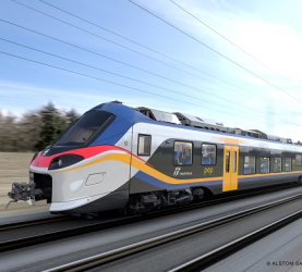 Presentation of Alstom's first Coradia stream train