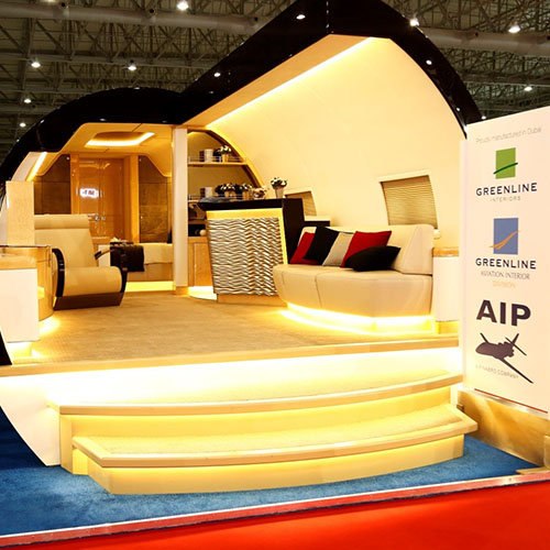 Aircraft interior design made by AIP in the Middle East